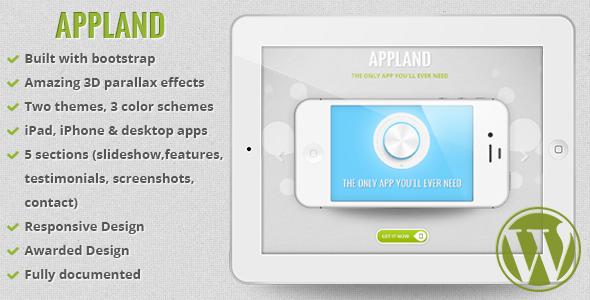 AppLand Bootstrap Parallax App Landing Theme