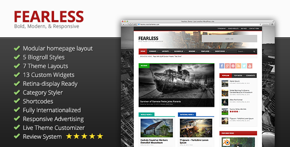 Fearless: Bold, Modern, & Responsive Magazine