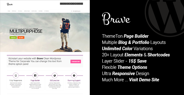 Brave – Clean Responsive Multipurpose Theme