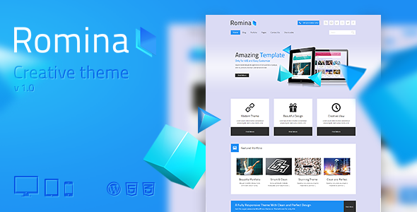 Romina – Creative WordPress Theme