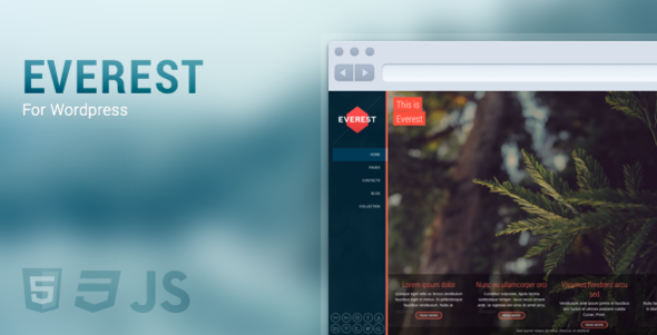 Everest – Full Screen, Responsive & Retina