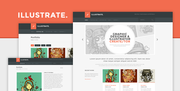 Illustrate – Responsive Portfolio & Blog Theme