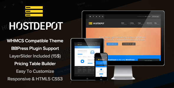 HostDepot – Responsive WordPress Hosting Theme