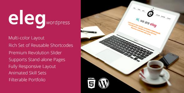 Eleg – Multicolor One Page WordPress Theme