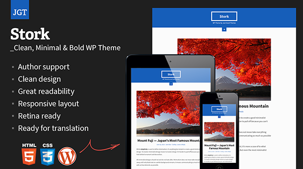 Stork: Clean, Minimal & Bold WordPress Theme