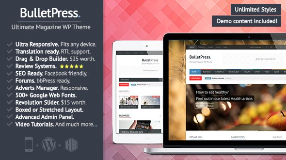BulletPress – Ultimate Magazine WP Theme