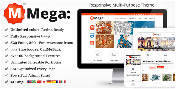 Mega Responsive Multi-Purpouse Theme