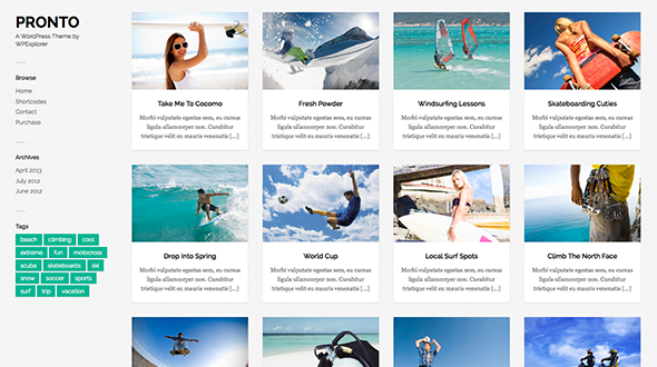 Pronto Masonry WordPress Theme