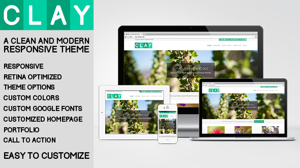 Clay – A Responsive All Natural WordPress Theme