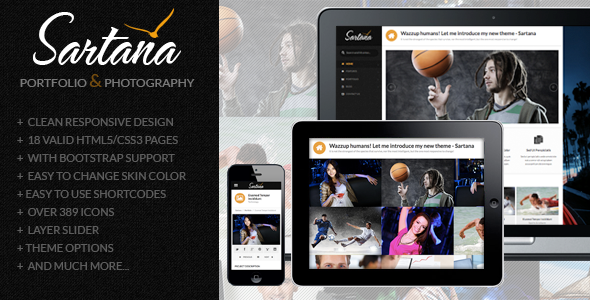 Sartana WordPress Portfolio Template