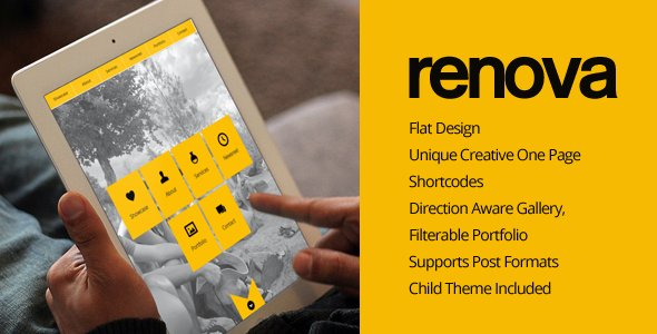 RENOVA – WordPress One Page Responsive Portfolio