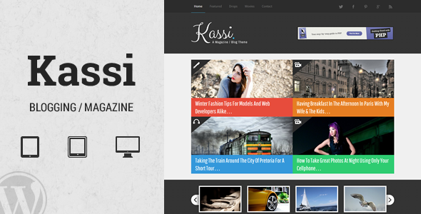 Kassi – WordPress Blogging Theme