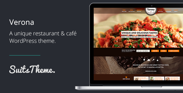 Verona Restaurant&Cafe Responsive WordPress Theme