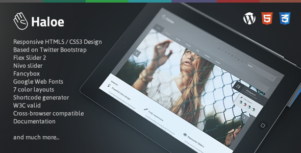 Haloe – Responsive WordPress Theme