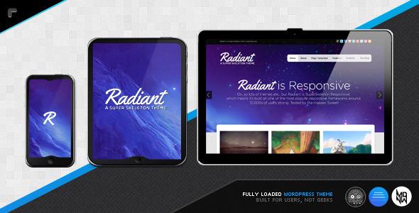Radiant WP: Colorful, Beautiful, Responsive
