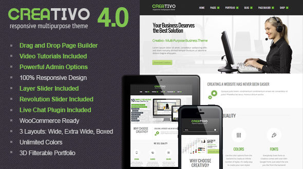 Creativo 4.0 – Ultra Responsive MultiPurpose WP Theme