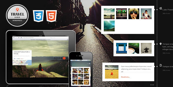 Travel Fullscreen/Responsive WordPress Theme