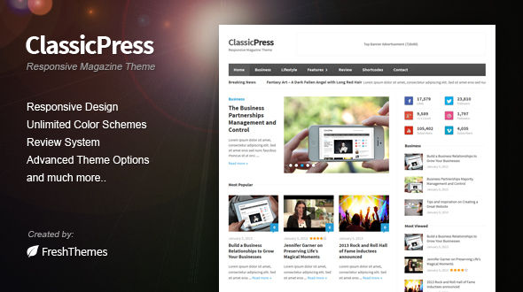 ClassicPress – Responsive Magazine WordPress Theme