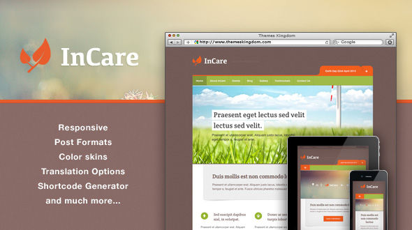 InCare – Responsive Eco/NonProfit WordPress Theme