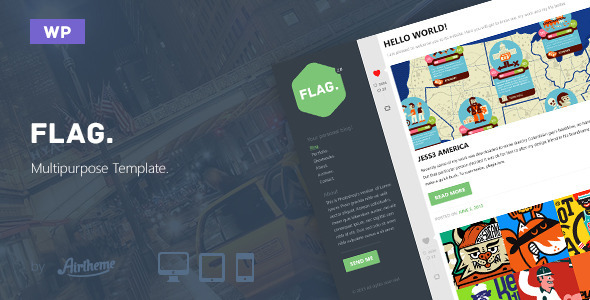 Flag: Professional WordPress Blog Theme