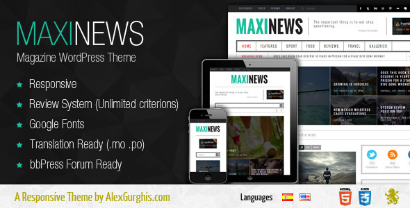 MaxiNews – Premium Review Magazine Theme