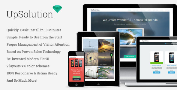UpSolution – Marketing Responsive One Page Theme