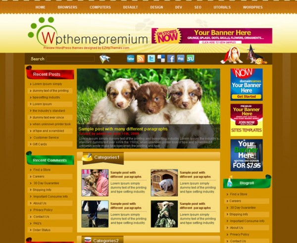 Adoreasure  WordPress Theme Free Download