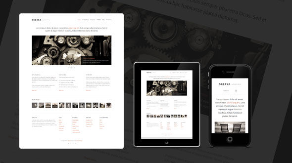 Sketsa: Portfolio WordPress Theme
