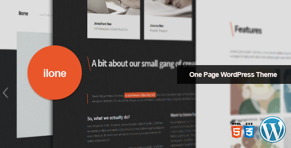 Ilone – One Page WordPress Theme