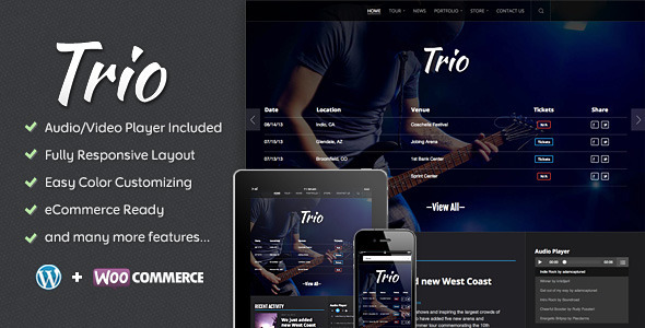 Trio – Band WordPress Theme