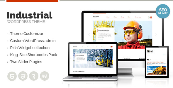 Industrial – Multi-Purpose Responsive WP Theme