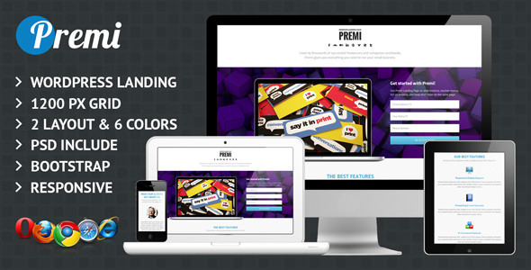 Premi – Premium Business WordPress Landing Page