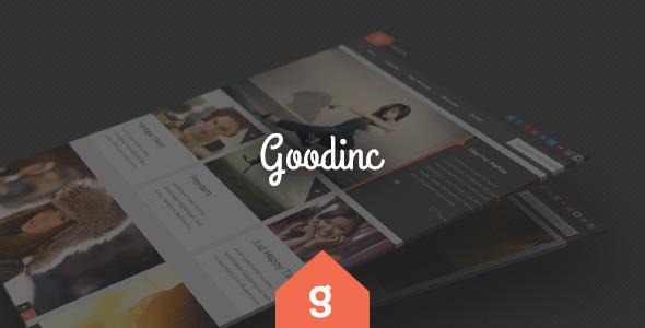 GoodInc Flat Responsive WordPress Blog, News Theme