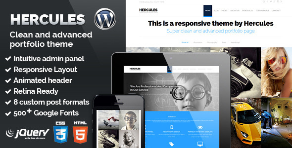 Hercules – Portfolio & Business WordPress Theme
