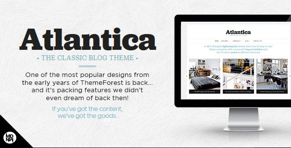 Atlantica: The Classic Blog & Portfolio Theme