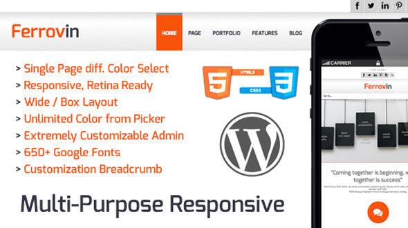 Ferrovin – WP Responsive Multipurpose Theme
