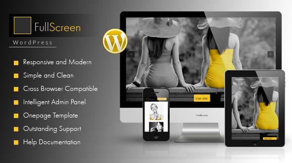 FullScreen – OnePager Responsive WordPress Theme
