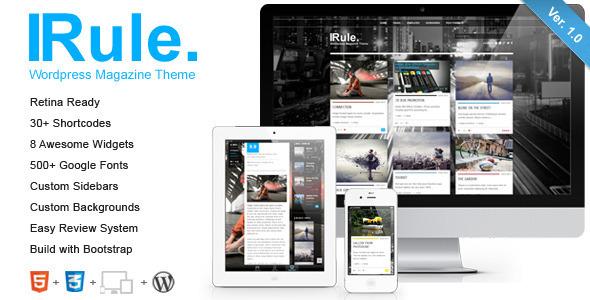 Rule – Retina Responsive WordPress Theme
