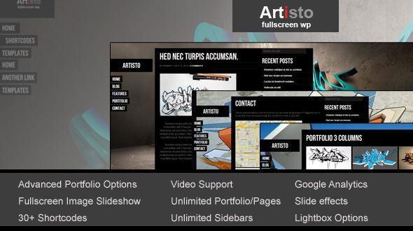Artisto – Fullscreen Portfolio Theme