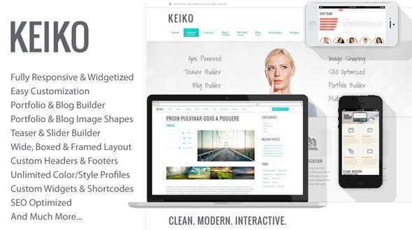 Keiko – Responsive Multi-Purpose WP Theme