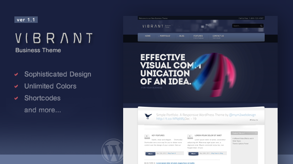 Vibrant Business WordPress Theme