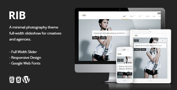 RIB – Responsive Photography WordPress Theme