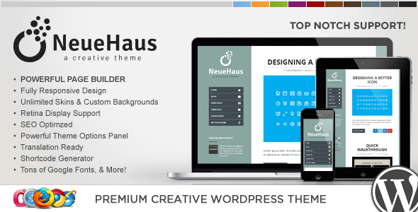 WP Neuehaus Responsive Creative WordPress Theme