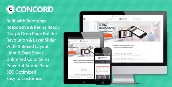 Concord – Retina Responsive Multi-Purpose WP Theme