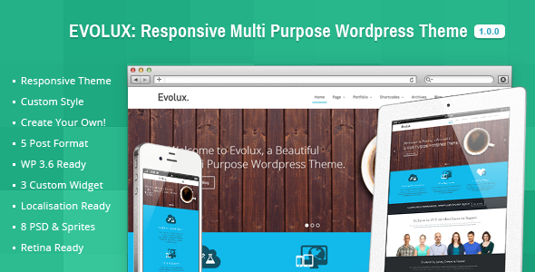 Evolux – Responsive Multi-Purpose WordPress Theme