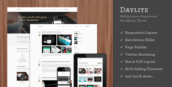 Daylite – Multipurpose Responsive WordPress Theme