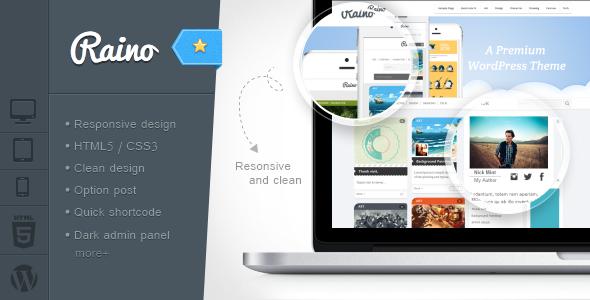 Raino – Clean Blog and Portfolio Resonsive