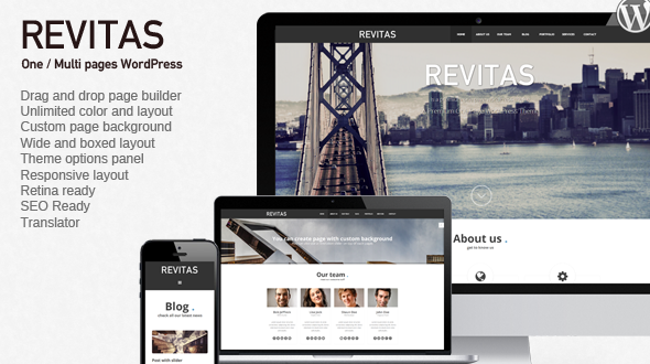 Revitas – One / Multi pages WordPress Theme