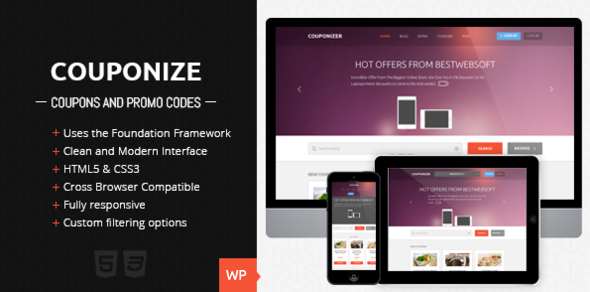 Couponize – Responsive Coupons and Promo Template