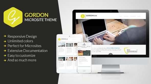 GORDON – Responsive Microsite Theme